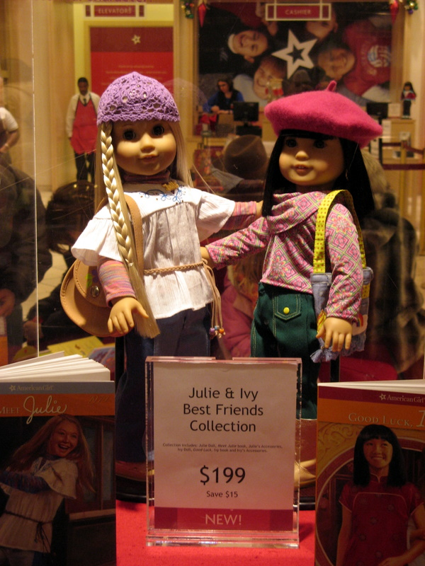 A brave yet curmudgeonly man visits The American Girl Store.