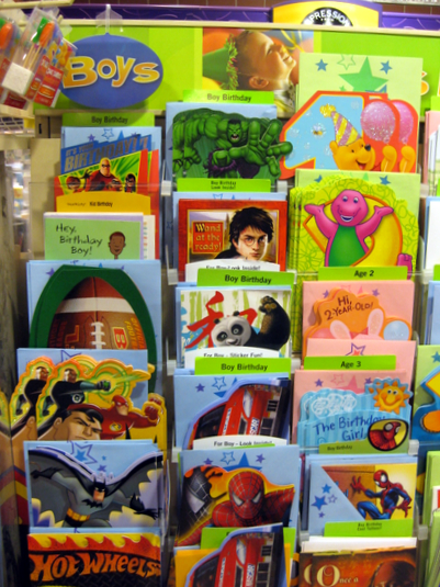 "Handmade Cards For Boys. Now compare the ""oys"" cards"
