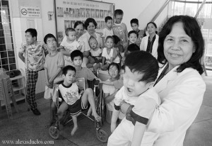 Group of handicapped children, most of them victims of Agent Orange. Via Wikipedia (commons)