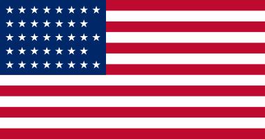 1877 Flag 38 stars