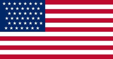 1890 Flag 43 stars