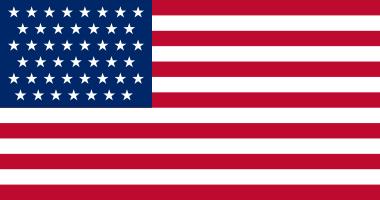 1896 Flag 45 stars
