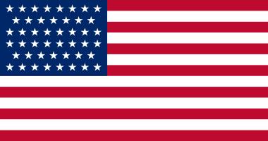 1908 Flag 46 stars