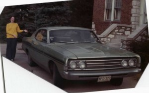 1969 Ford Fairlane; Former girlfriend serving as model