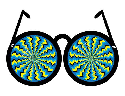 очки картинки оптические иллюзии чат