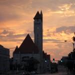Union station sunset panorama