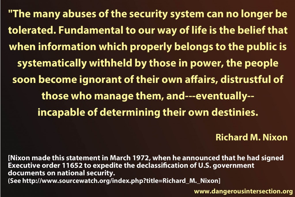 Richard Nixon on freedom of information