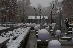 Missouri Botanical Garden After a November Snow.